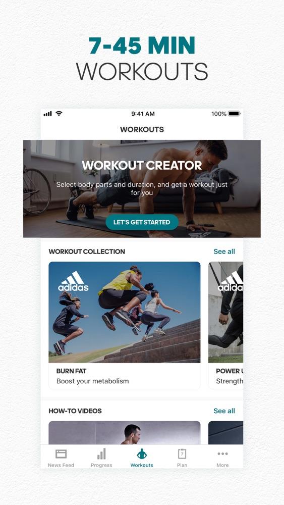 adidas training app alle videos runterladen