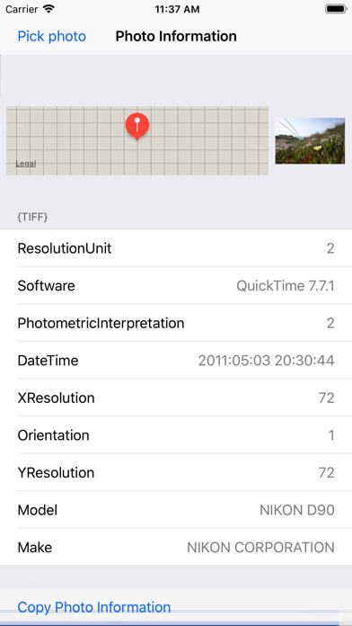 Photo Information:GPS, Exif... screenshot two