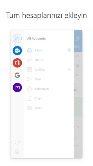 Screenshot for Microsoft Outlook in Turkey App Store