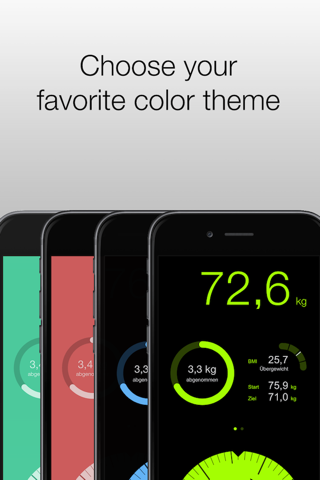 Track weight with DailyWeight - náhled
