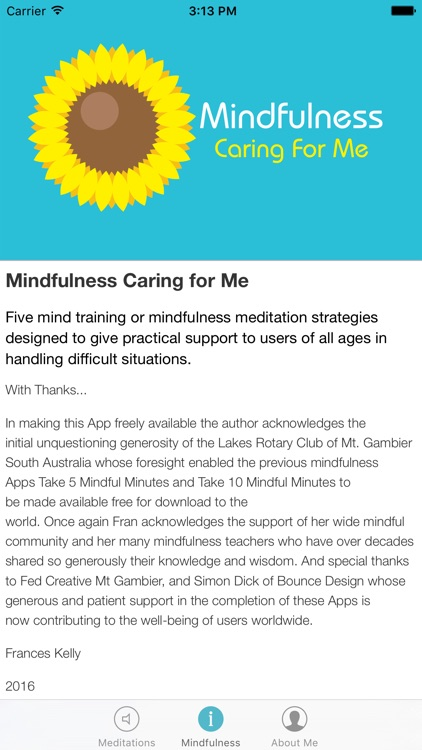 Mindfulness Caring for Me