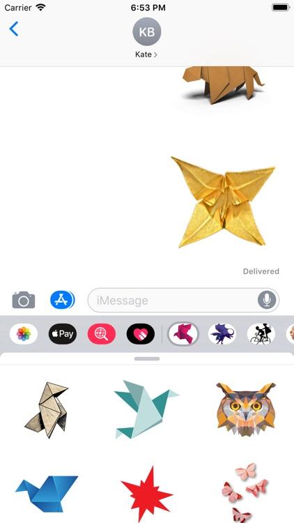 Origami Pack Stickers screenshot-4