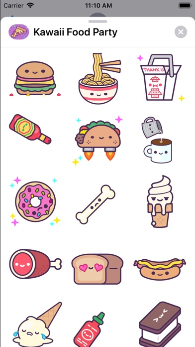 App Shopper Kawaii Food Party Stickers