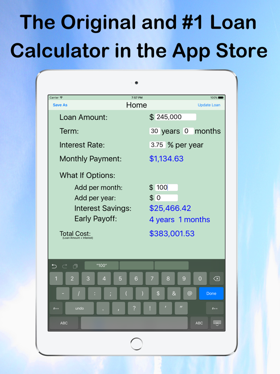 Loan Calculator - What If? screenshot