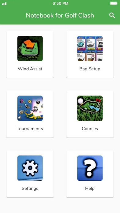Notebook for Golf Clash