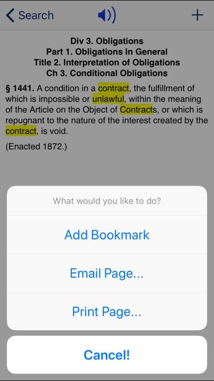 CA Civil Code 2020 screenshot-3