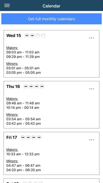 Fishing Times Calendar screenshot-3