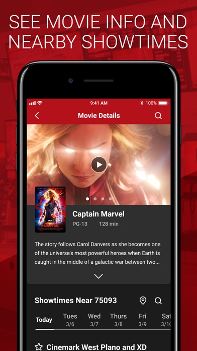 Cinemark Theatres review screenshots