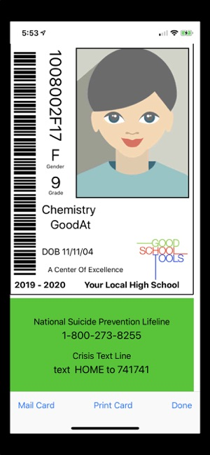 School ID Now Supports Suicide Lifelines Image