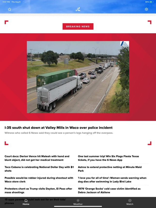 Central Texas News from KCEN 6 on the App Store
