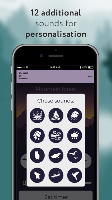 Screenshot of Nature Sounds for Relax App