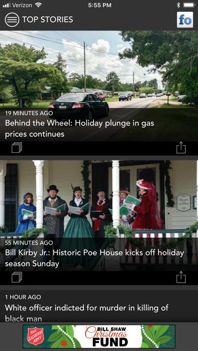 Fayetteville Observer Screenshot