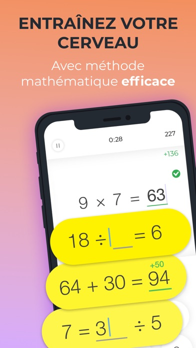 Screenshot #1 pour Math Brain Booster Jeux