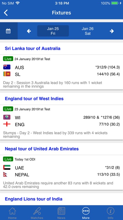 CrickOne - Live Cricket Scores screenshot-8