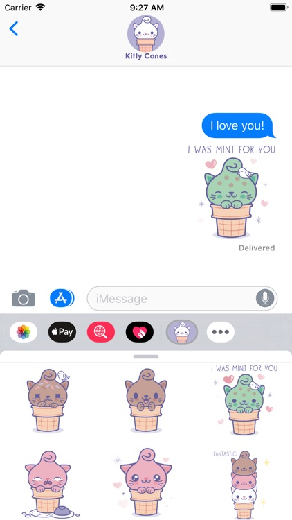 Kitty Cones Animated Stickers