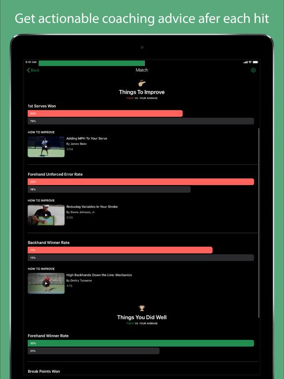 Screenshot #6 pour SwingVision - A.I. Tennis App
