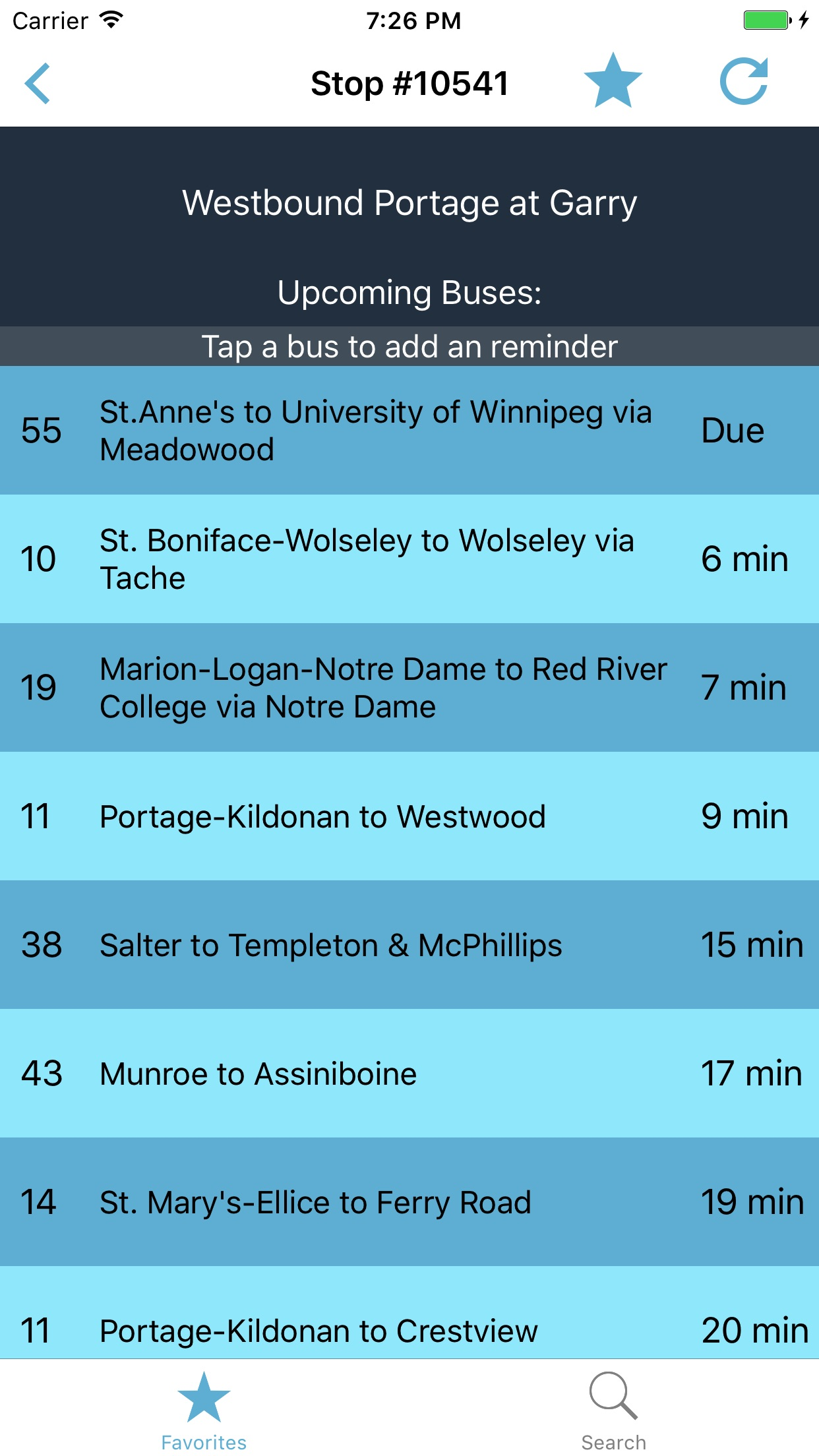 myBus Winnipeg - Live Transit Screenshot