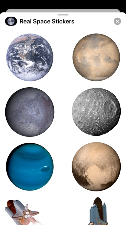 Real Space Stickers