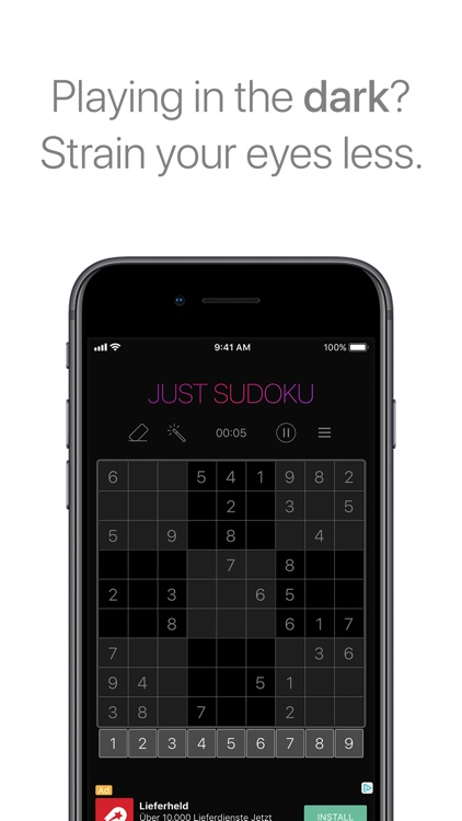 Just Sudoku - Puzzle Game screenshot-2