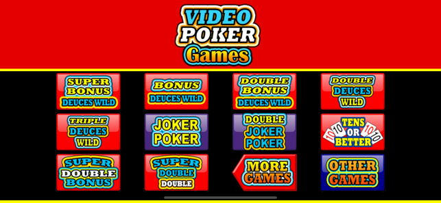 Video Poker Games On The App Store