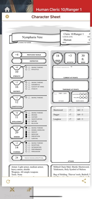 It is a photo of D&d 5e Printable Character Sheet for hand drawn