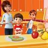虚拟家庭:快乐妈妈护理 - 照顾孩子们