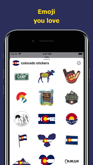 Сolorado emojis - USA stickers screenshot 2