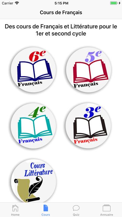 Cours de Français screenshot 1