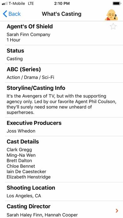 Actor Genie App Screenshots