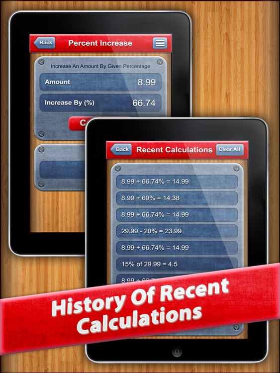 7 in 1 : Percentage Calc HD screenshot-3