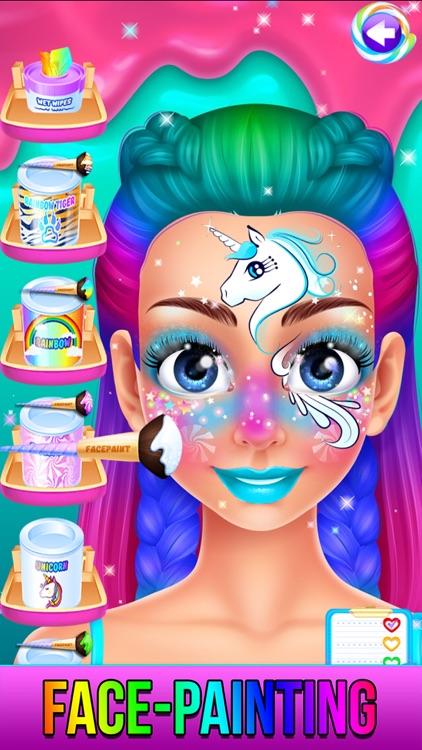 Rainbow Unicorn Candy Salon screenshot-0