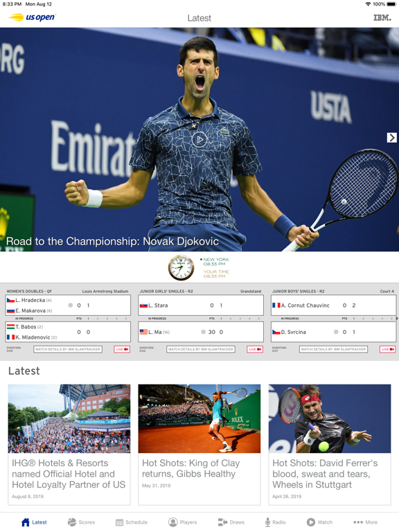 Screenshot #4 pour US Open Tennis Championships