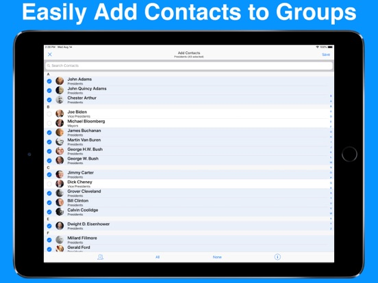 A2Z Contacts - Contact Manager, Edit Groups, Send Group Emails & Text Messages screenshot