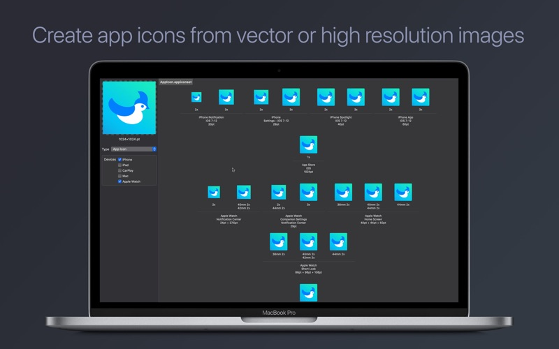 SVG Assets – Icon Exporter for Mac