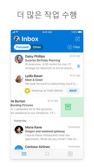 Screenshot for Microsoft Outlook in Korea App Store