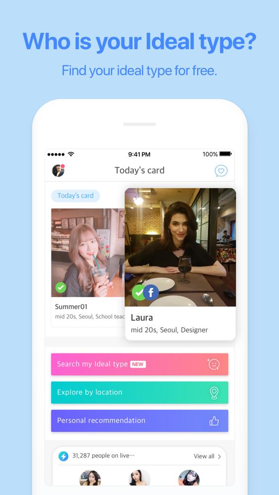 koreanska dating app iPhone