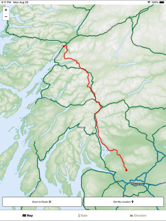 West Highland Way Map screenshot 5
