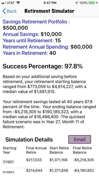 Retirement Investing Simulator