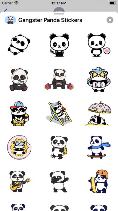 Gangster Panda Stickers screenshot 1