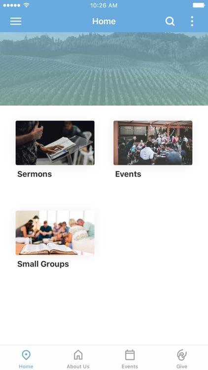 University Vineyard Church App