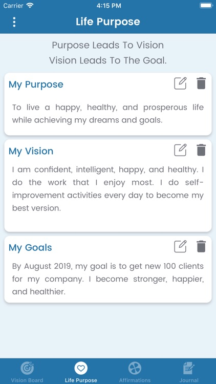 My Vision Board - Goal Setting screenshot-3