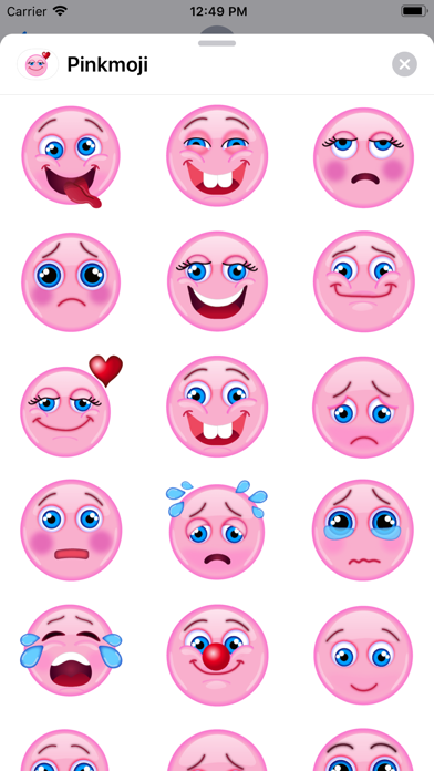 Pink-emoji screenshot 1