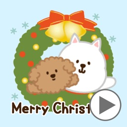 Dogs Animated Sticker for Xmas