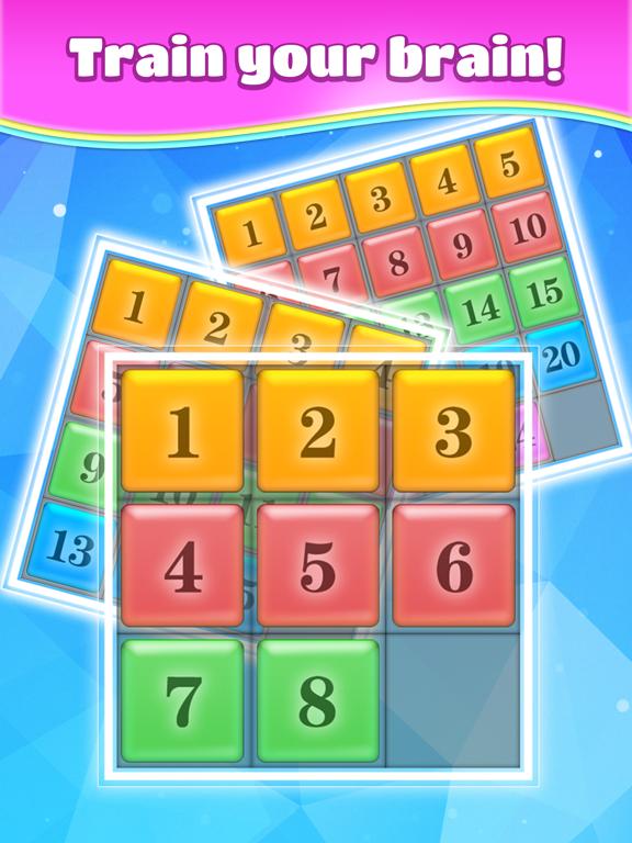 iPad Image of Number Block Puzzle.