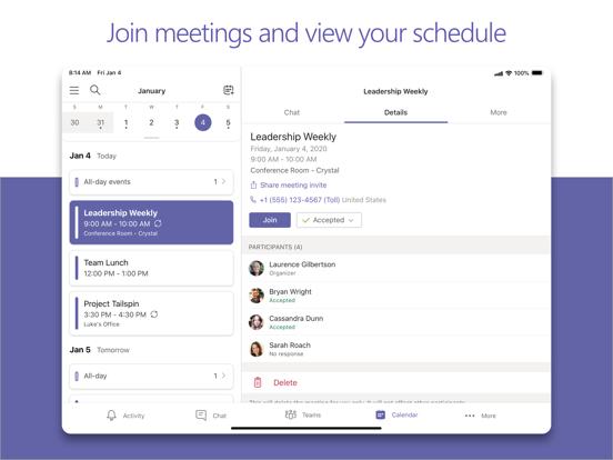 iPad Image of Microsoft Teams