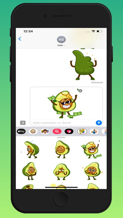Funny Avocado Animated Sticker