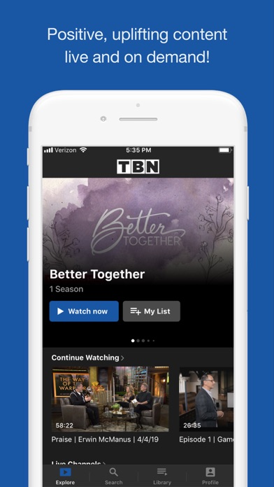 TBN: Watch TV Live & On Demand by Trinity Broadcasting