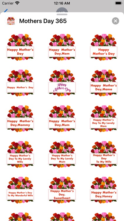 Mother's Day 365 Stickers screenshot-1