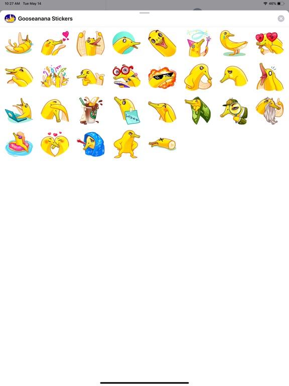 Gooseanana Stickers screenshot 4