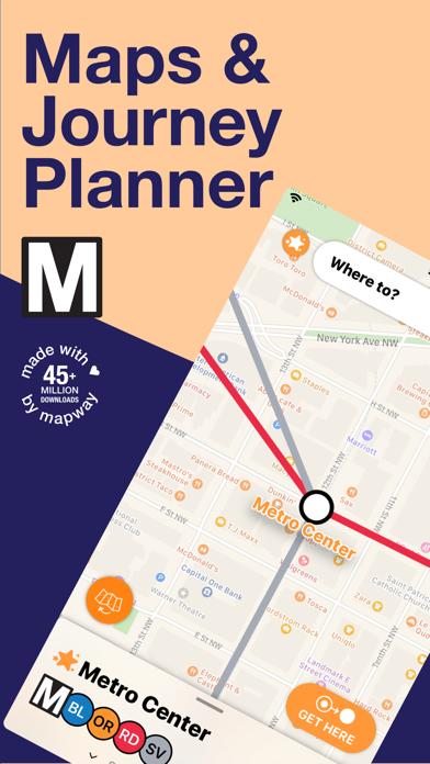 Washington DC Metro Route Map Screenshot